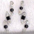 .925 silver Swarovski crystal pin earrings