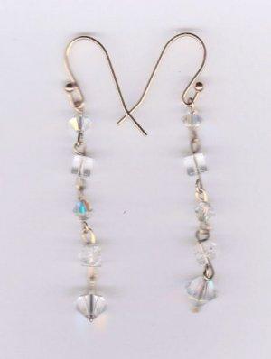 14k gold filled swarovski crystal dangle earrings