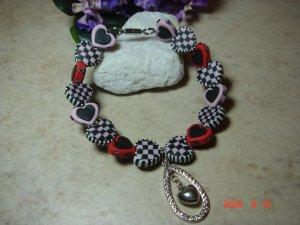 hearts pet necklace size 9