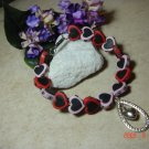 hearts pet necklace size 8