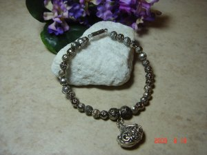 rose bead pet necklace size 7