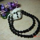 black onyx & rhinestone pet necklace size 9