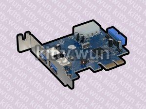 VL800 VIA USB 3.0 2 ports + 20pin internal 2 ports low profile PCI-e 1x card