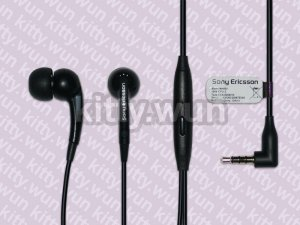 Original Genuine New SONY Ericsson Xperia MH650 3.5mm Earphone Remote Mic Black