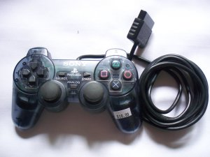 Official Sony Playstation 2 PS2 Smoke Grey Controller -MINT-