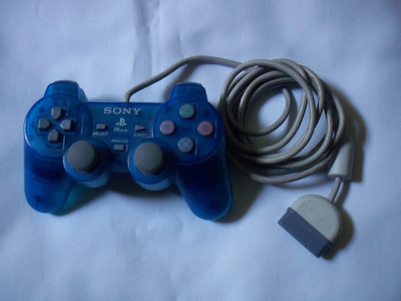 Sony Playstation 1 PS1 PSOne Blue Dual Analog Controller