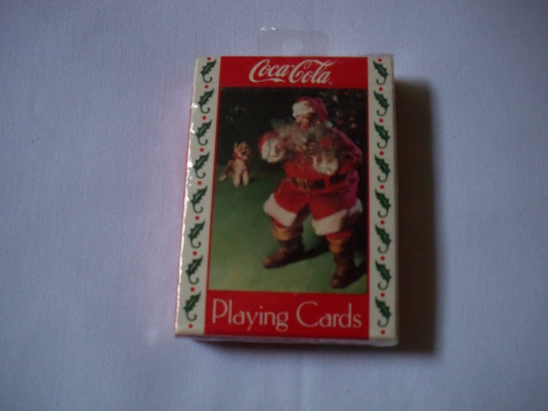 1993 Coca Cola Santa Playing Cards Deck -Factory Sealed-