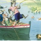 Alfred Mainzer - Cat Postcard - Fishing For Cat Fish!