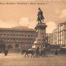 Napoli, Piazza Municipio, Vittorio Emanuele II - Italy (A101)