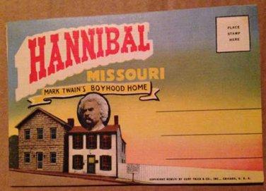 Hannibal Missouri Souvenir Folder, 18 views (Folder_A1951)