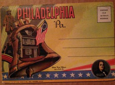 Philadelphia, PA Souvenir Folder -18 views (Folder_A1946)