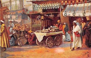 Cairo, Egypt Street Scene - Tuck Oillette (A544-545)