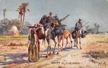 Egypt An Arab Family - Tuck Oillette (A540-541)