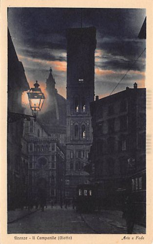 Firenze, Italy - Night Scenes - Lot of 5 (A550-554)