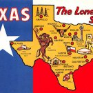 Texas Lone Star State - Map Postcard (A378)