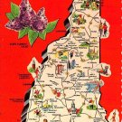 New Hampshire Greetings - Map Postcard (A385)