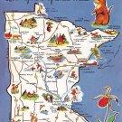 Minnesota - Map Postcard (A391)