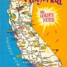 California - Map Postcard (A392)