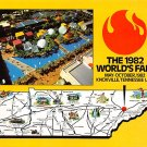 Knoxville, Tennessee, World's Fair 1982 - Map Postcard (A403)