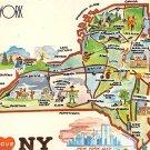 New York - I love NY - Map Postcard (A405)