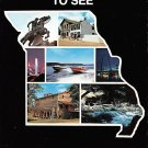 Missouri - Seven Ways To See - Map Postcard (A411)