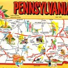 Pennsylvania - Map Postcard (A414)
