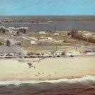 Riviera Municipal Beach 1957 Postcard (A434)