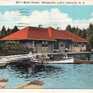 Newark, New Jersey, NJ Weequahic Lake Boat House 1933 (A484)