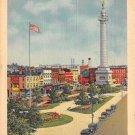 Trenton, NJ Postcard Battle Monument Park 1938 (A495)