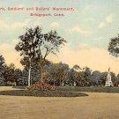 Bridgeport, Conn, CT Postcard - Soldier's Sailors' Monument 1913 (A592)