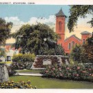 Stamford, Conn, CT Postcard - West Park Monument 1927 (A593)
