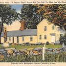 Coventry, Conn, CT Postcard - Nathan Hale Birthplace (A594)