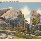 West Rock, Conn, CT Postcard - Judges' Cave - (A601)