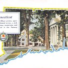 Map,  Conn, CT Postcard - Mobilegas (A603)