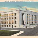 Hartford, Conn, CT Postcard - Post Office (A605)