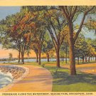Bridgeport, Conn, CT Postcard - Seaside Park Promenade 1946 (A606)