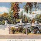 Hartford, Conn, CT Postcard - Hoadley Bridge Bushnell Park 1936 (A608)