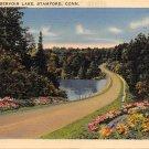 Stamford, Conn, CT Postcard - Reservoir Lake 1942 (A612)