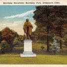Bridgeport, Conn, CT Postcard - Beardsley Monument 1920 (A617)