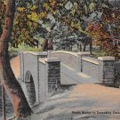 Bridgeport, Conn, CT Postcard - Beardsley Park Bridge 1939 (A626)