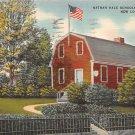 New London, Conn, CT Postcard - Nathan Hale Schoolhouse 1944 (A627)