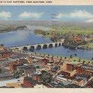 East Hartford, Conn, CT Postcard - Aerial View 1945(A628)