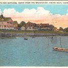 Indian Neck, Conn, CT Postcard Cocheco Bluffs & Cottages 1931 (A635)