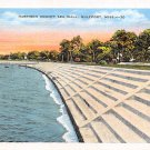 Gulfport, Miss, MS Postcard - Harrison County Sea Wall (A682)
