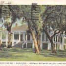 Gulfport, Biloxi Miss, MS Postcard - Jefferson Davis Shrine 1946 (A668)