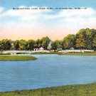 Hattiesburg, Miss, MS Postcard - Lake View Park (A655)