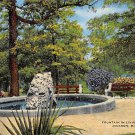 Jackson, Miss, MS Postcard - Fountain Livingston Park (A653)