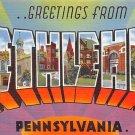 Bethlehem Large Letter Postcard - PA, Penna (A696)