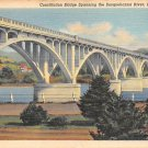 Lock Haven, PA Postcard - Constitution Bridge 1946 (A700) Penna, Pennsylvania