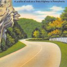 State Highway, PA Postcard (A708) Penna, Pennsylvania